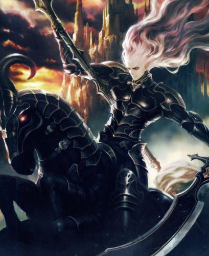 horse fantasy male sword Rage of Bahamut Series Game wallpaper