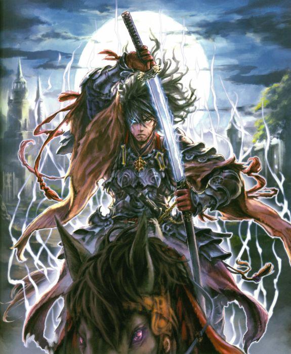Rage of Bahamut Series Game sword male wallpaper