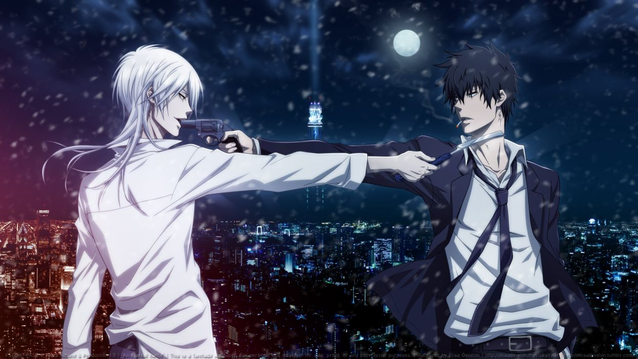 PSYCHO-PASS Series Shougo Makishima Character weapon boys wallpaper