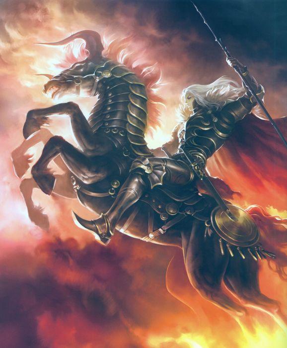 Rage of Bahamut Series Game horse warrior sword wallpaper