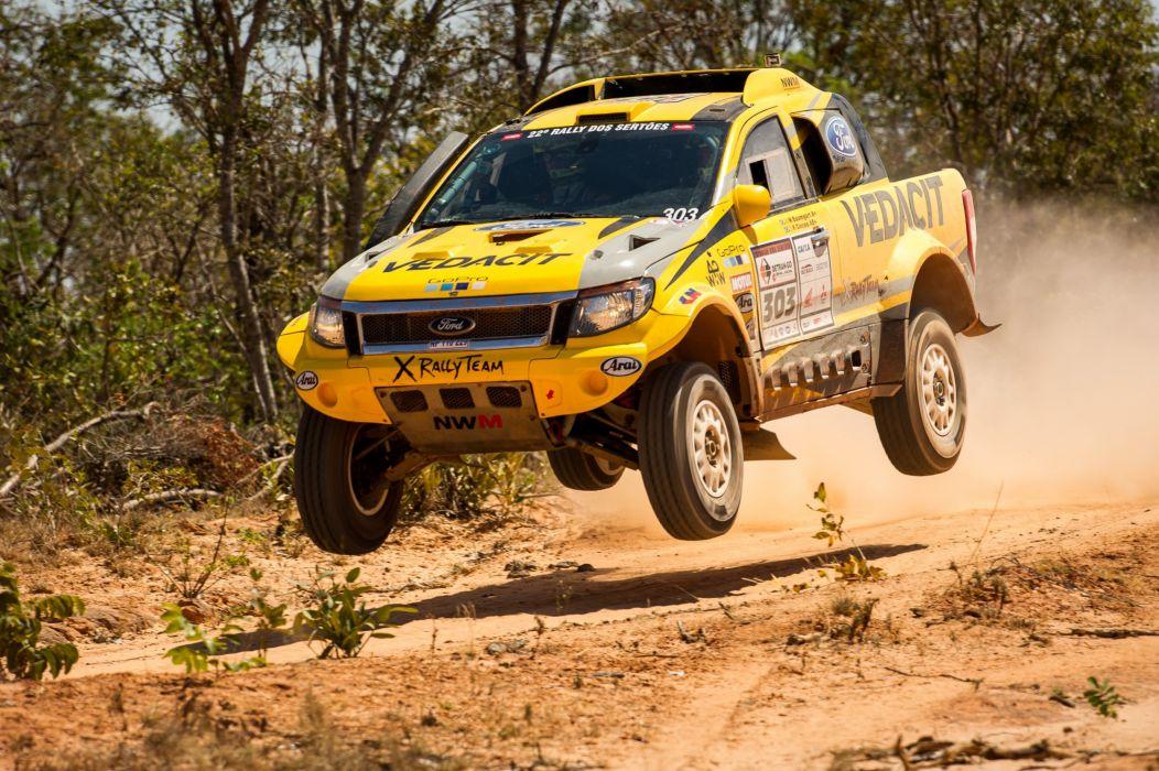 2015 Ford Ranger Dakar 4x4 offroad race racing pickup wallpaper