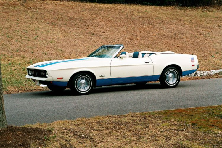 1972 Ford Mustang Sprint Convertible muscle classic wallpaper