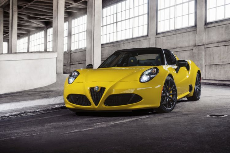 2015 Alfa Romeo 4-C Spider US-spec 960 supercar wallpaper