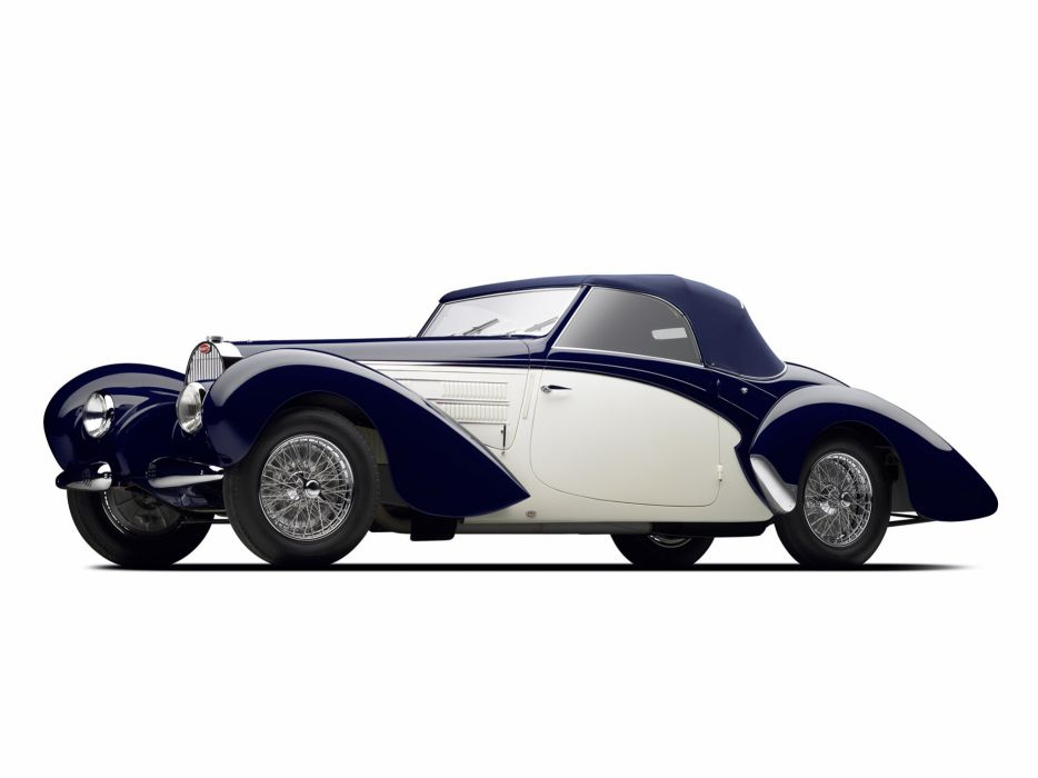 1938 Bugatti Type-57C Aravis Cabriolet Gangloff 57C retro luxury wallpaper