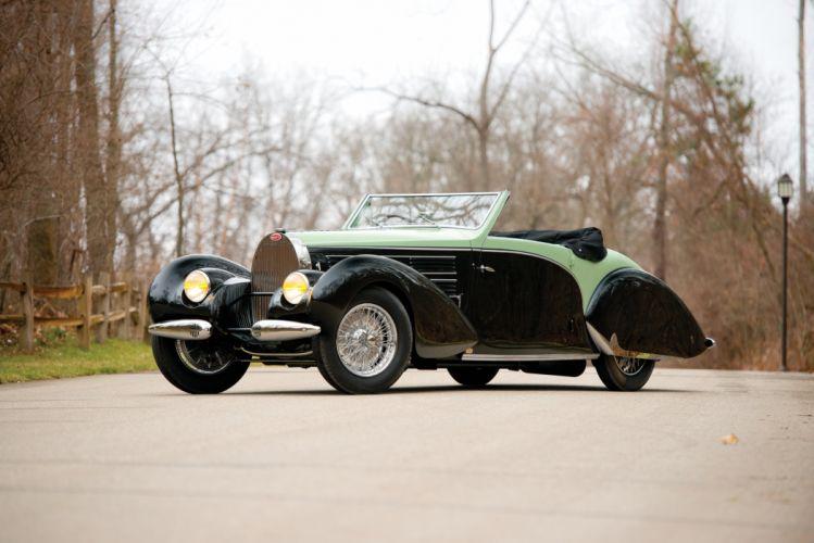 1938 Bugatti Type-57C Aravis Cabriolet Gangloff 57C retro luxury wallpaper