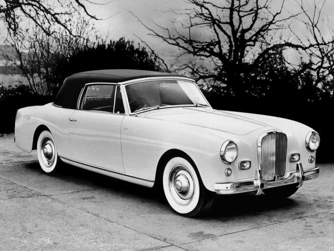 1958 Alvis T-C 108G Drophead Coupe retro luxury wallpaper