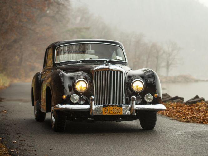 1954 Bentley R-Type Continental Sports Saloon Franay luxury retro wallpaper