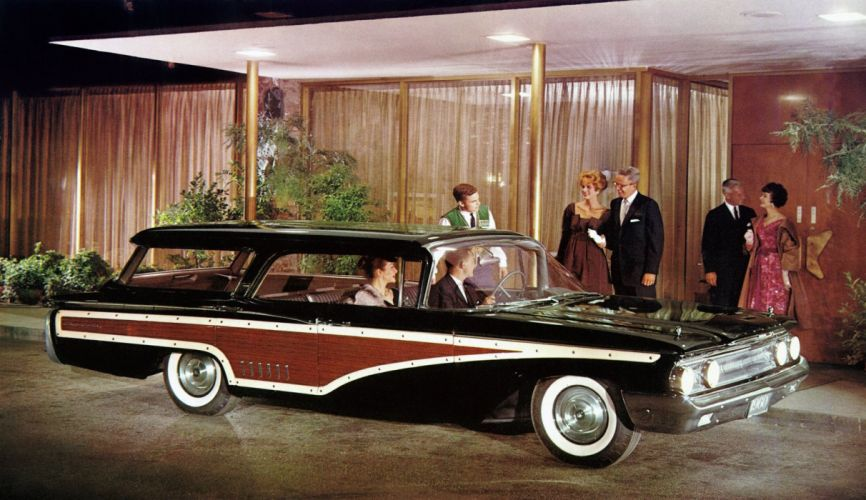 1960 Mercury Country Cruiser Colony Park 77B stationwagon classic wallpaper