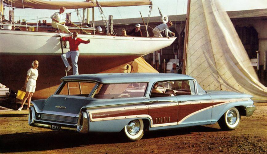 1960 Mercury Country Cruiser Colony Park 77B stationwagon classic wallpaper
