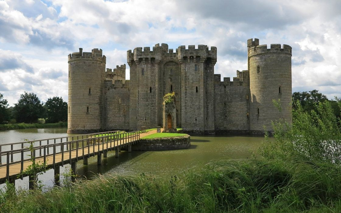England Castle Pond Cities wallpaper