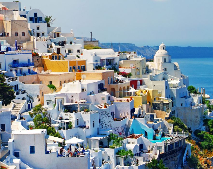 Greece Houses Cities house wallpaper