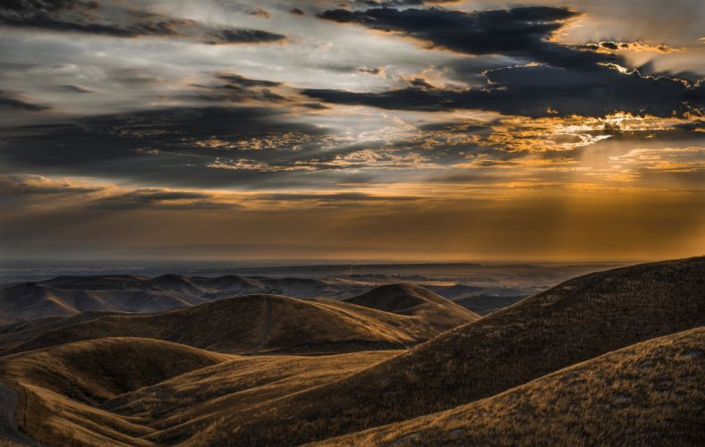 mountains sky panorama landscape nature clouds wallpaper