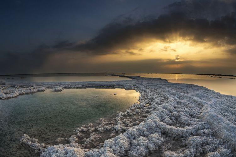 reflection sun landscape sky lake wallpaper