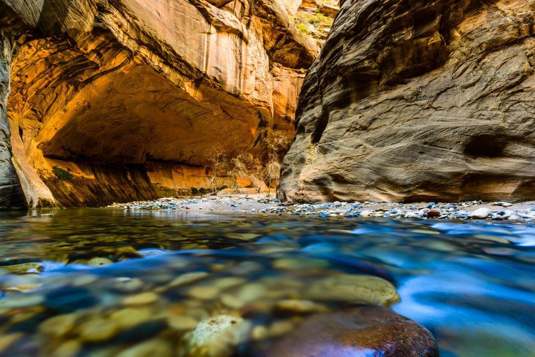 river rocks gorge Nerrous Nerrous Zion Zion National Park wallpaper