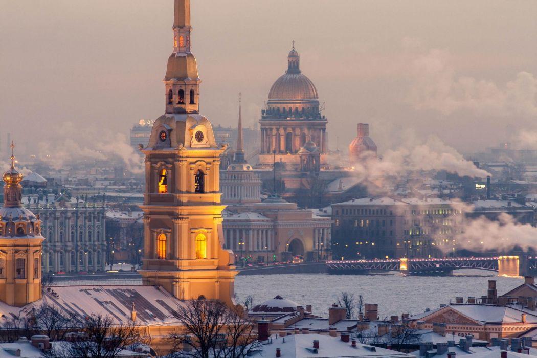 russia peter st petersburg St Petersburg winter wallpaper