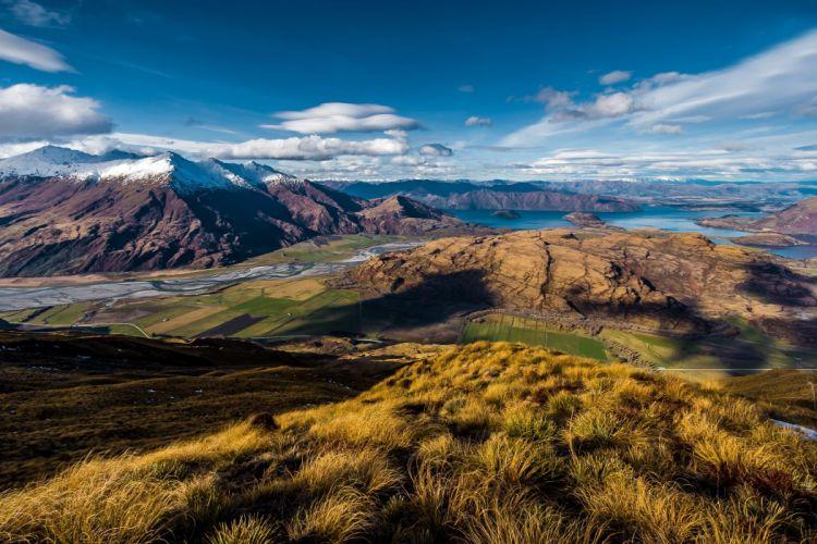 Wanaka New Zealand view lake mountain wallpaper