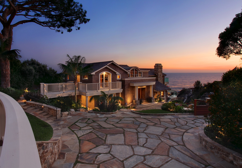 Usa houses laguna beach mansion night cities house ocean for Beach house designs usa