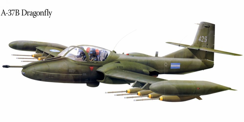 A-37B military war art painting airplane aircraft weapon fighter d wallpaper