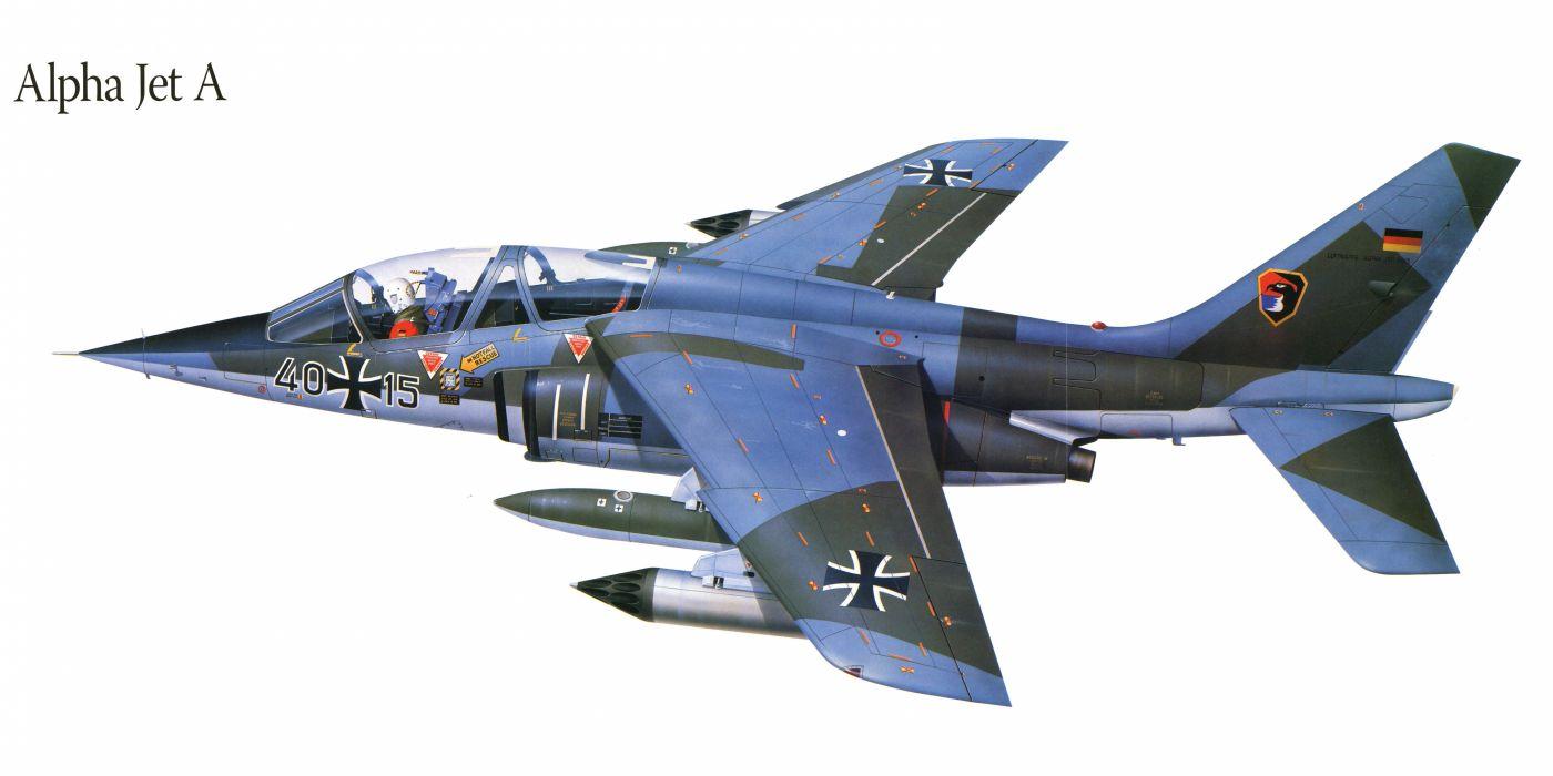 Alpha Jet A military war art painting airplane aircraft weapon fighter d wallpaper