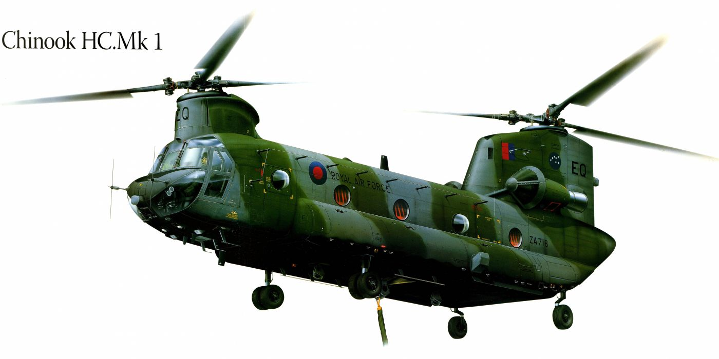 Chinook HCMk1 military helicopter aircraft f wallpaper