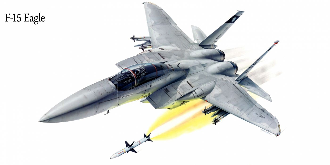 F-15 Eagle military war art painting airplane aircraft weapon fighter d wallpaper