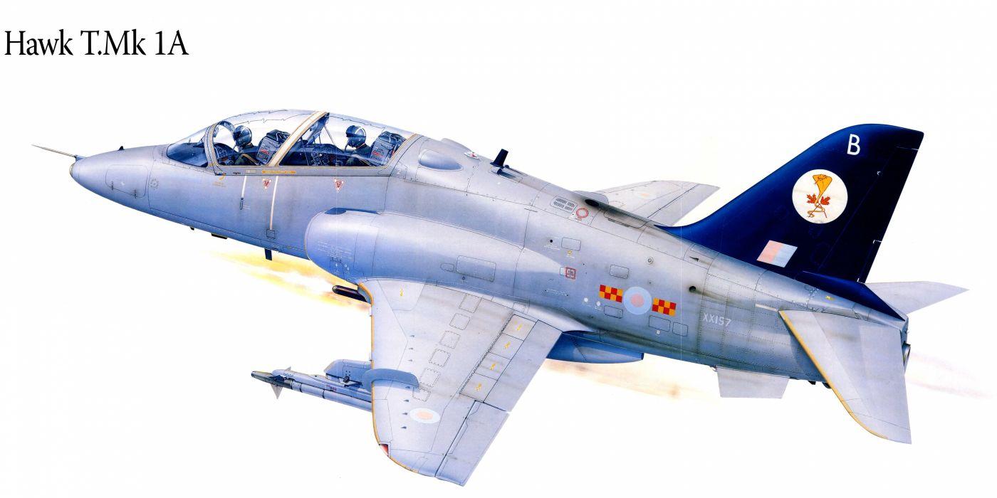 Hawk TMk1A military war art painting airplane aircraft weapon fighter d wallpaper
