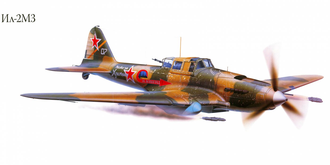 Il-2M3 military war art painting airplane aircraft weapon fighter d wallpaper