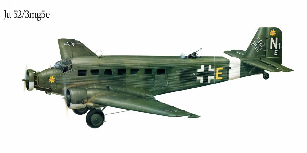 Ju-52 3mg5e military war art painting airplane aircraft weapon fighter d wallpaper
