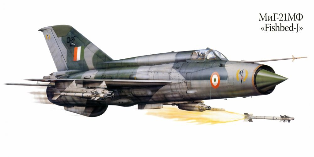 MiG-21MF military war art painting airplane aircraft weapon fighter d wallpaper