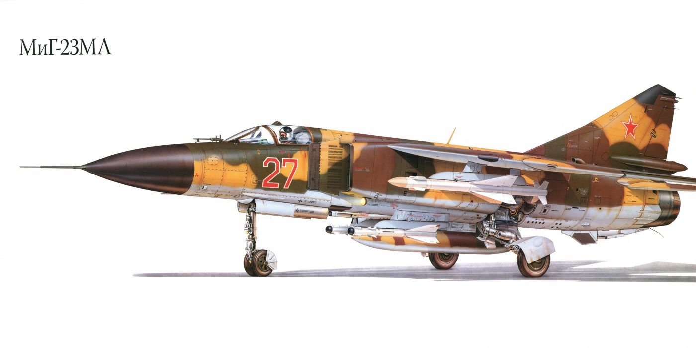 MiG-23ML military war art painting airplane aircraft weapon fighter d wallpaper