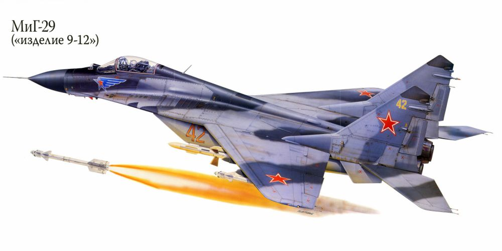 MiG-29 military war art painting airplane aircraft weapon fighter d wallpaper