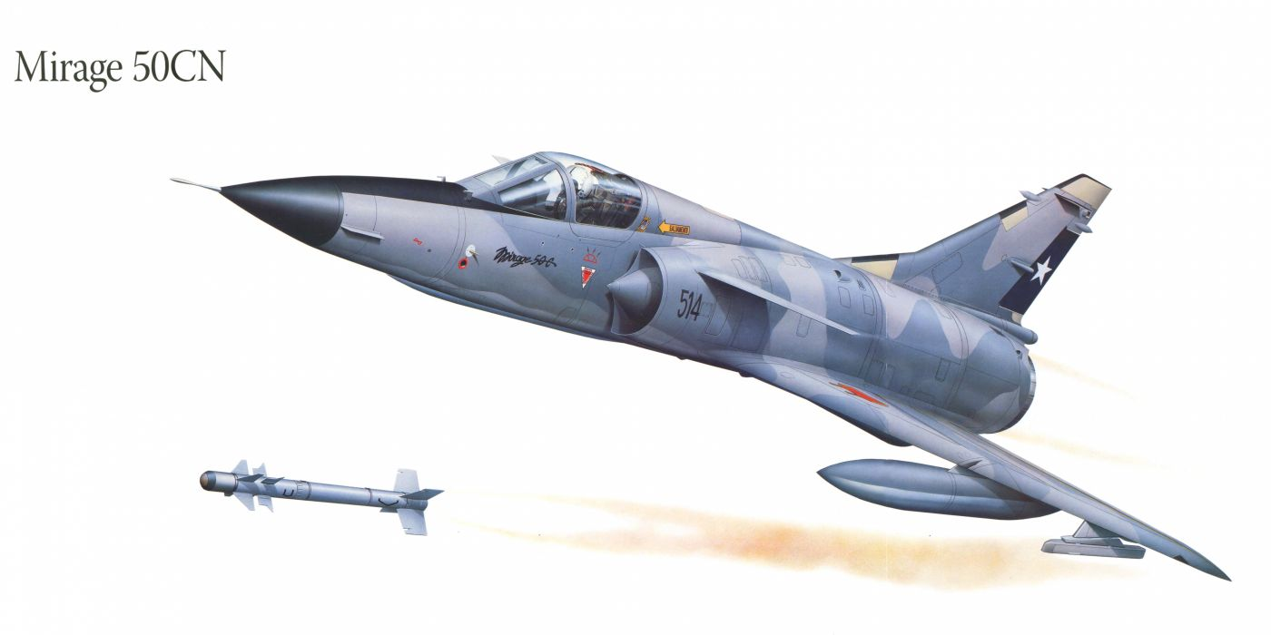 Mirage 50CN military war art painting airplane aircraft weapon fighter d wallpaper