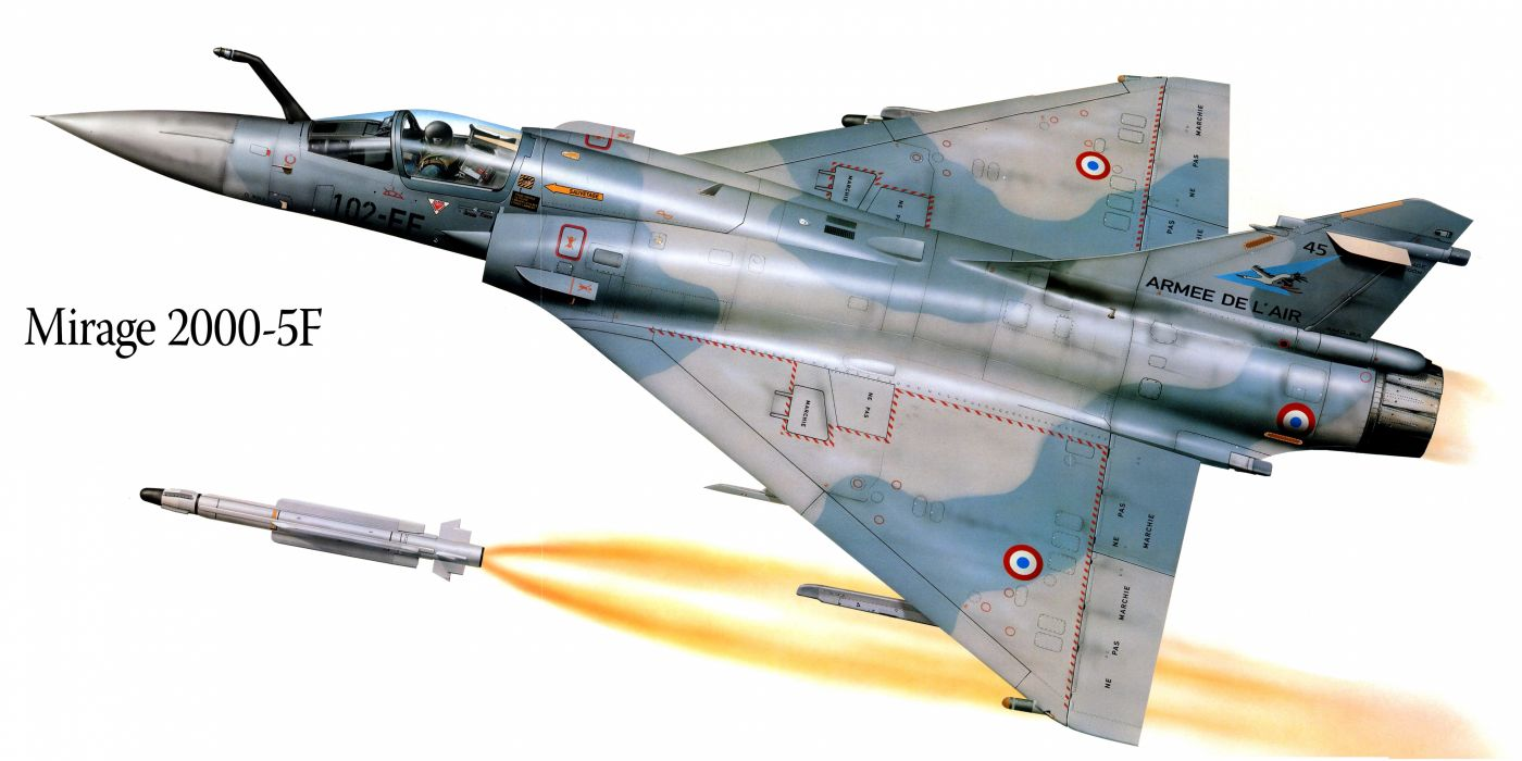 Mirage 2000-5F military war art painting airplane aircraft weapon fighter d wallpaper