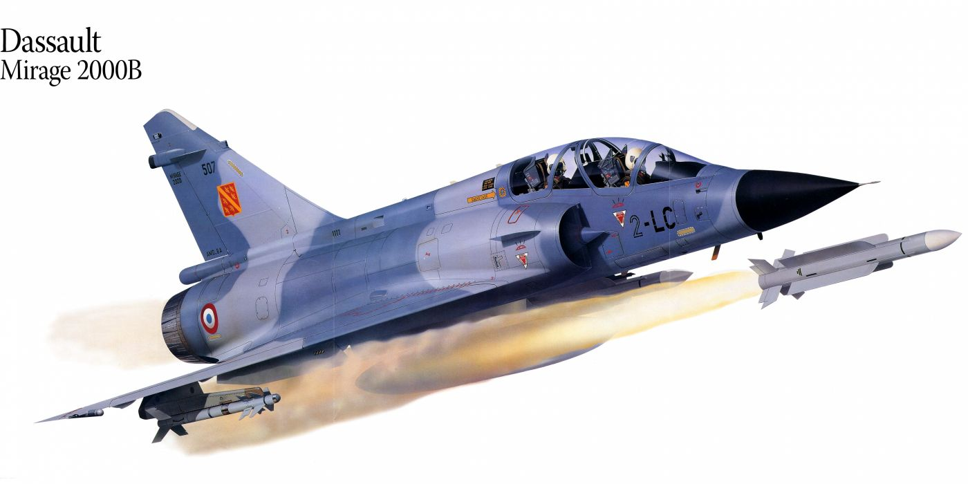 Mirage 2000B military war art painting airplane aircraft weapon fighter d wallpaper