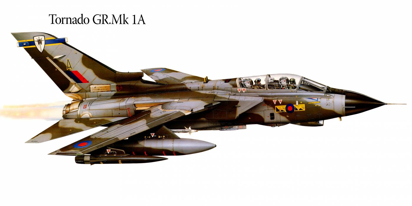 Tornado GRMk1A military war art painting airplane aircraft weapon fighter d wallpaper