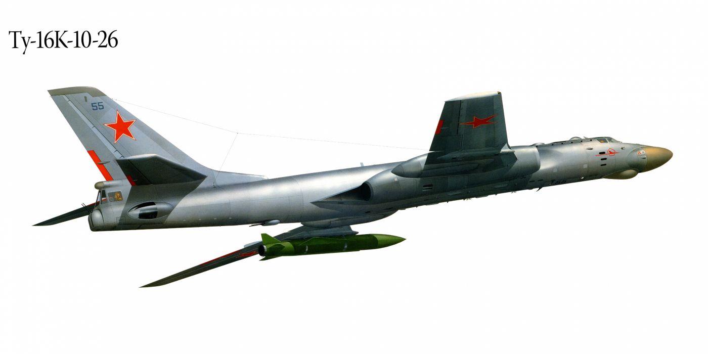Tu-16K-10-26 military war art painting airplane aircraft weapon fighter d wallpaper