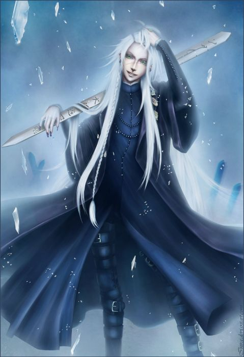 kuroshitsuji undertaker inira long hair anime series wallpaper
