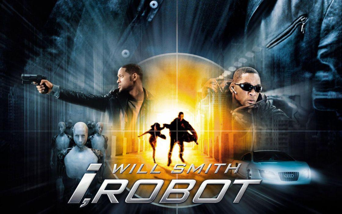 I-ROBOT action mystery sci-fi futuristic robot technics 1irobot crime dystopian wallpaper