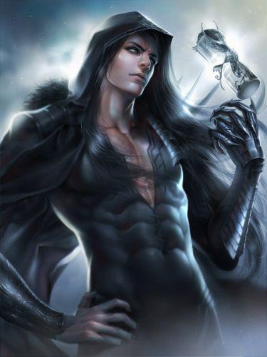 original fantasy male zeilyan long hair blue eyes wallpaper