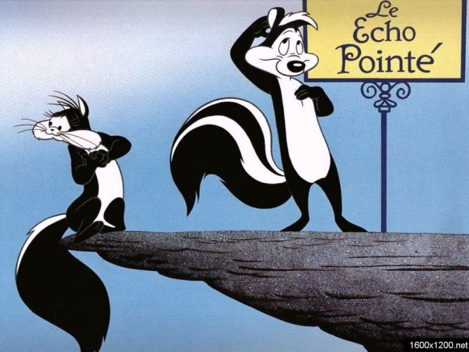 PEPE LE PEW Looney Tunes french france comedy family animation 1pepepew skunk cat romance wallpaper