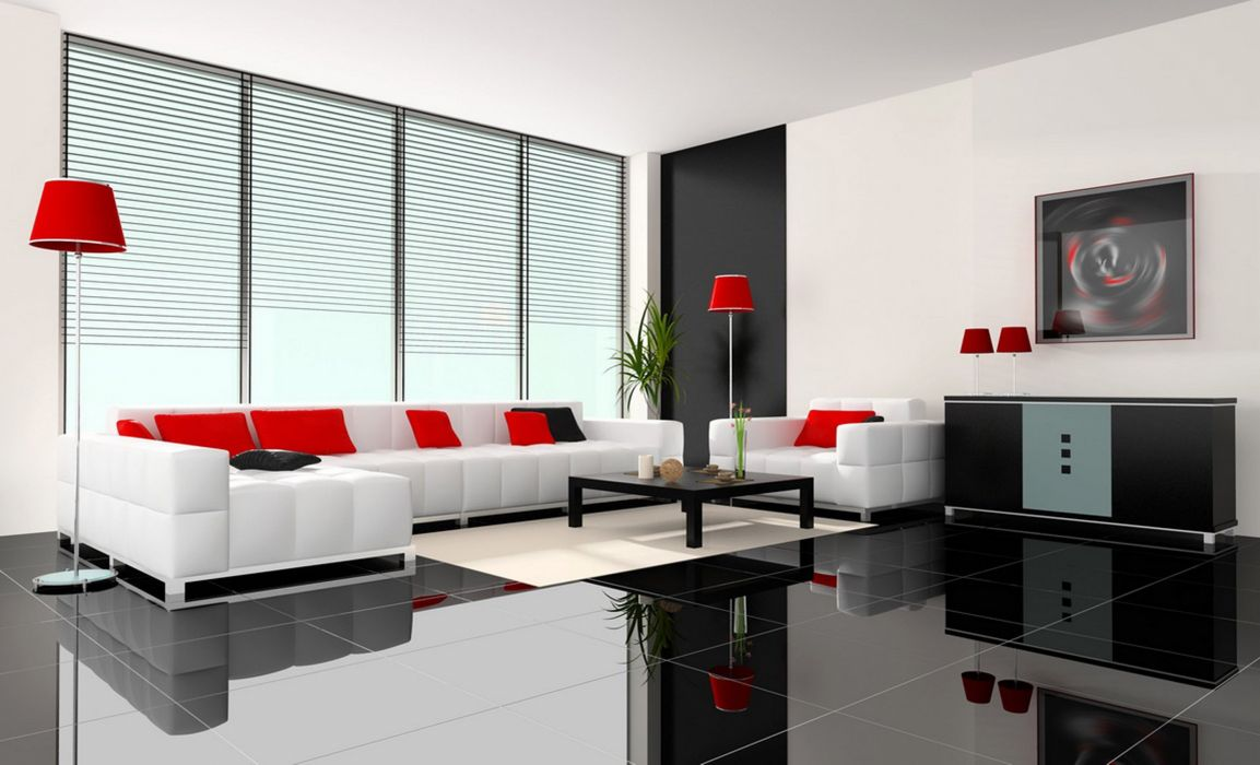 apartment condominium condo interior design room house home furniture wallpaper