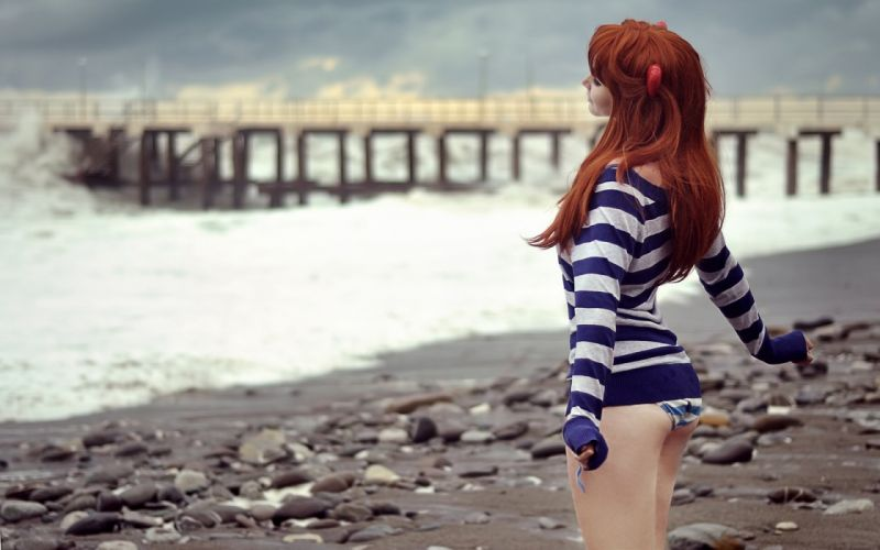 Asuka Langley Soryu Cosplay wallpaper