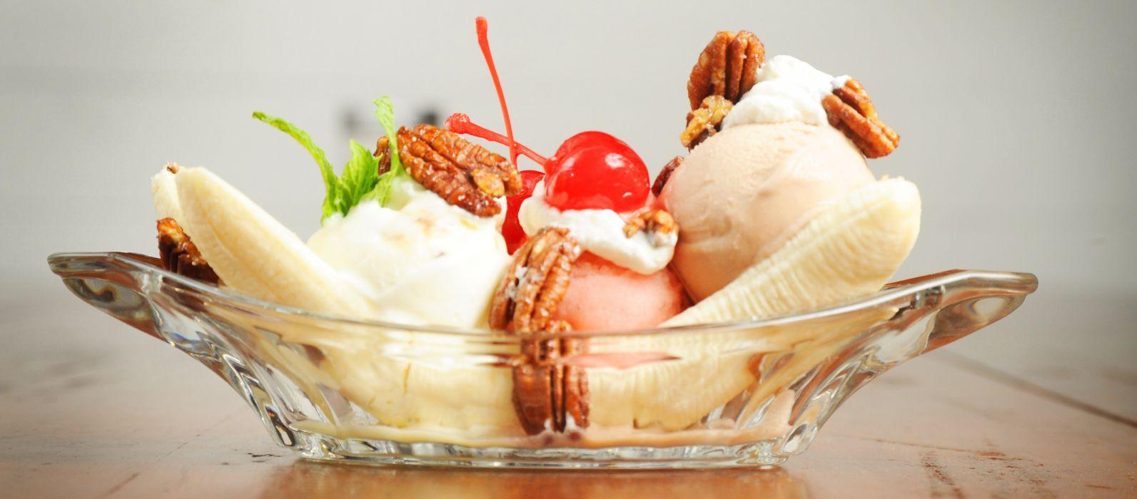 banana split ice cream dessert sweets sugar 1bananasplit wallpaper