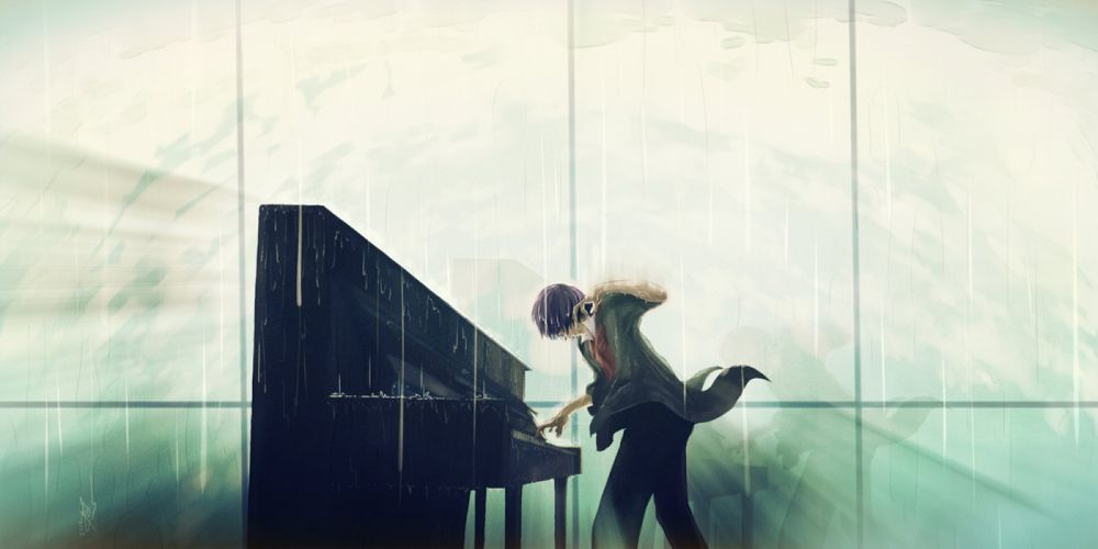 music anime guy piano soul short hair wallpaper