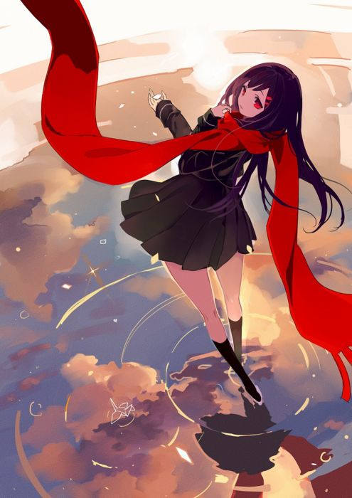 anime series kagerou+project-girl ayano-lia-sama-long+hair-single- wallpaper