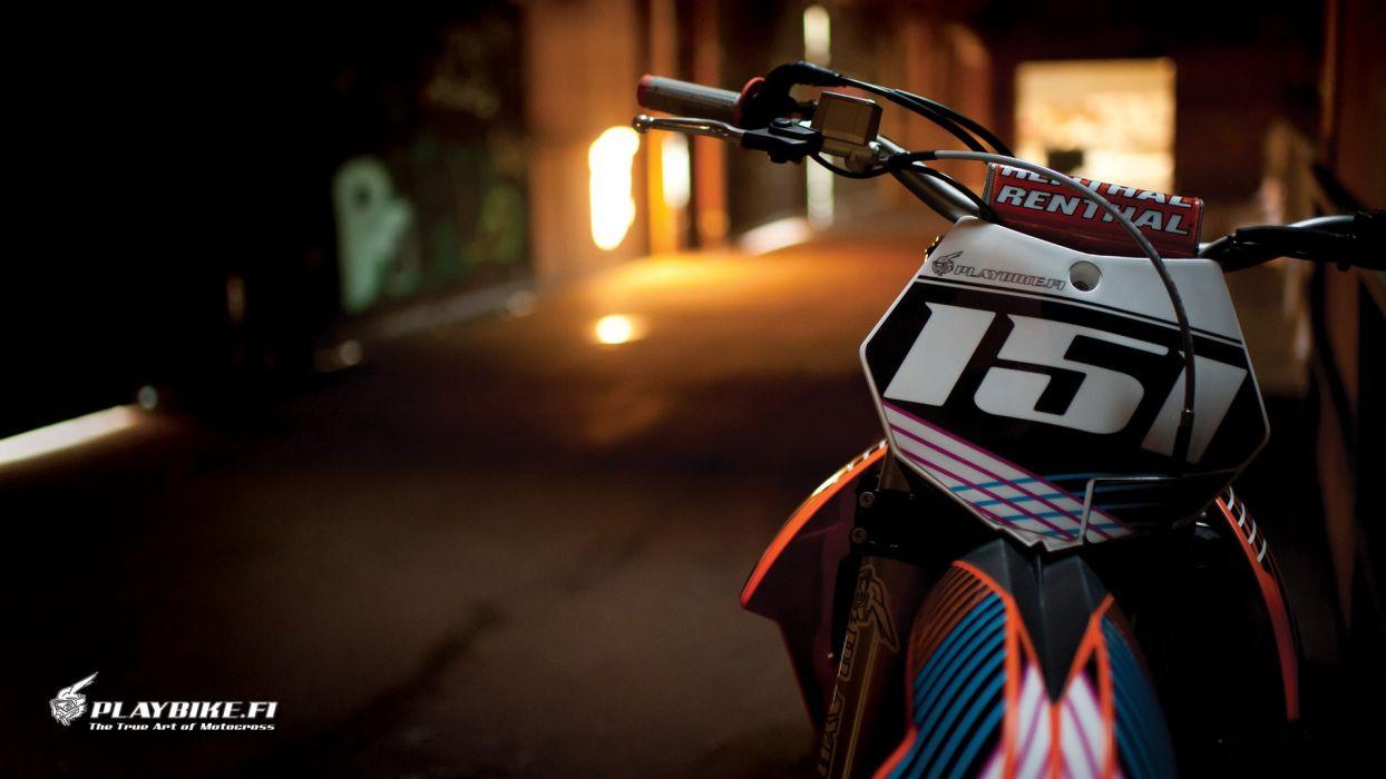 Playbike Motocross Wallpaper Hd Wallpaper