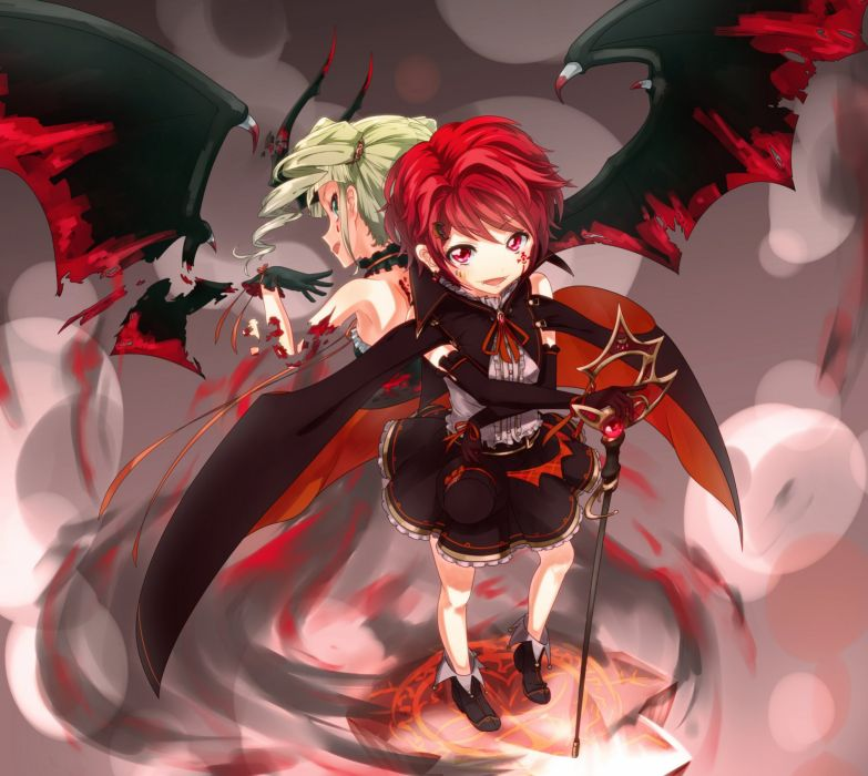 Aikatsu Ichinose Kaede Toudou Yurika Fantasy Aerial View wallpaper
