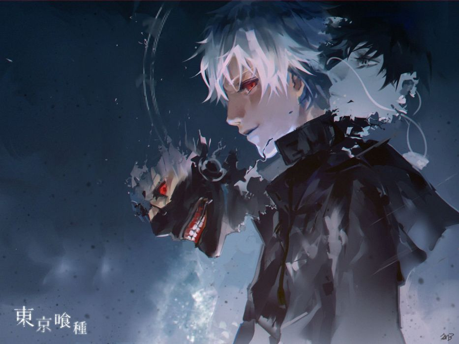 All Male Jn3 Kaneki Ken Male Mask Red Eyes Short Hair Tokyo Ghoul White Hair Wallpaper 1600x1200 590367 Wallpaperup