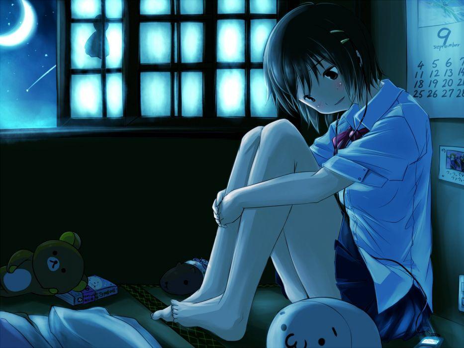 crying headphones hokuchin mobile teddy bear wallpaper