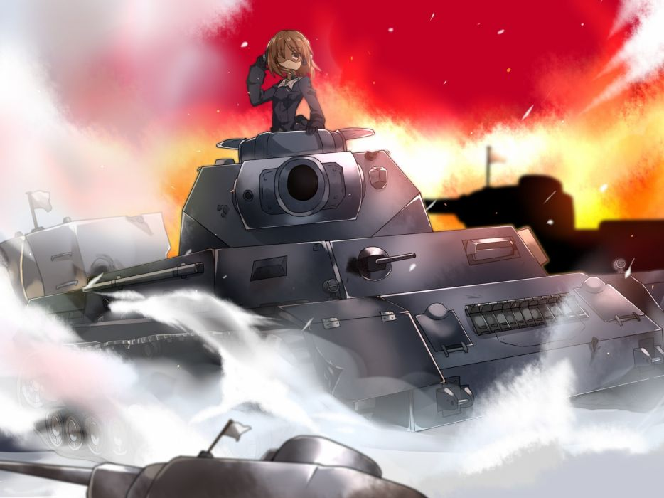 Girls und Panzer Tanks Anime Girls tank d wallpaper